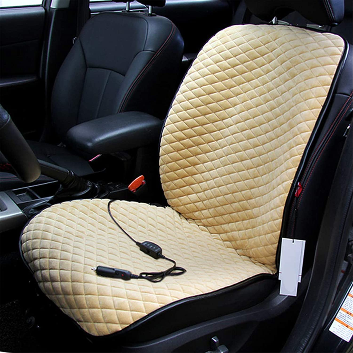 Heated Car Seat Covers Universal Heating Car 12V Cigarette Lighter Seat Cushion (105 × 48cm)