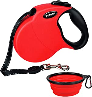 PETDOM Heavy Duty Retractable Dog Leash - 16 ft Retractable Dog Leash Up to 44 lbs - Tangle Free Reflective Tape Anti-Slip Handle - Extendable Leash for Small Medium Breed