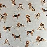 Classic Tiere Hunde, Design Baumwolle Rich Leinen Look