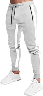 Striped Jogger Pants for Men Athletic Casual Tapered...
