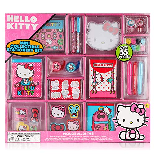 Hello Kitty Mini Collectible Stationary Set - Fun Assortment of Over 55 Pieces - Stickers , Gel Pens and Stationary Perfect Gift for Every Girl
