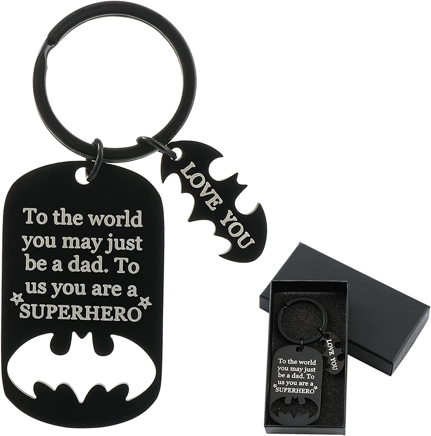 Gifts Dad Keychain Key Ring Opening large release sale Chain Metal