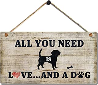 Decorative Plaque with Saying - All You Need is Love and A Dog Signs by 6 x 11.5 Inch