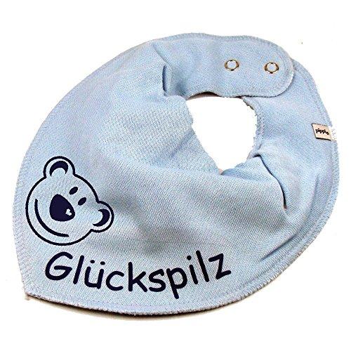 Elefantasie Halstuch BÄR mit Namen oder Text personalisiert hellblau für Baby oder Kind
