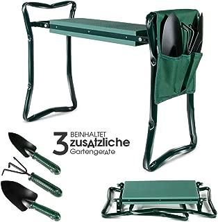 Neu Falten Knie /& Gartenbank 2in1 Garten Sitzbank Kniebank Sitzhilfe Knieschoner