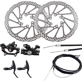 LIOOBO Freno de Disco de Bicicleta Calibrador Delantero y Trasero ...