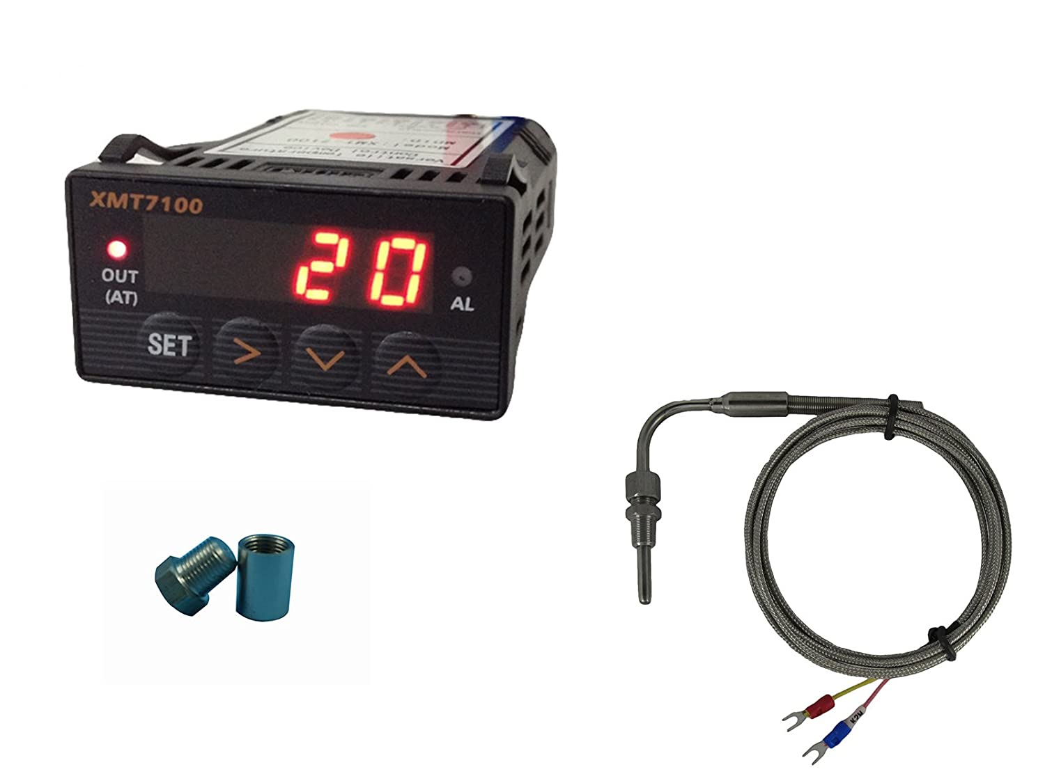 EGT Gauge (Red LED) with Exhaust Temperature Sensors and Weld Bu