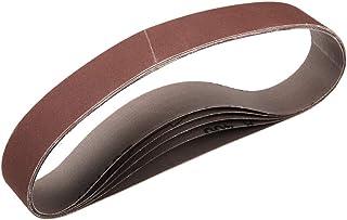 2,5 cm x 53 cm 400 aluminiumoxid slipbälte sandpappersbälten för bärbar slipmaskin träfinish metall gipsvägg polering slip...