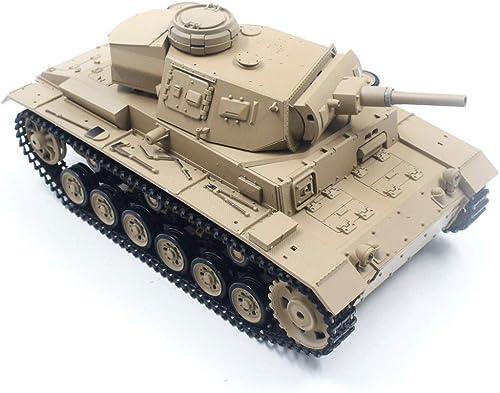 artículos de promoción AXJJ Tanques Tanques Tanques RC Tank Germany III número H Juguete Tank Tank 2.4 GHz de Carga inalámbrica RC Cars Hogar Decoración Regalo Boy Modelo de Control Remoto de Coche para Niños  tomamos a los clientes como nuestro dios