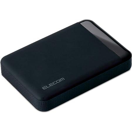 エレコム HDD ポータブルハードディスク 2TB SeeQVault対応 USB3.0 テレビ録画 かんたん接続ガイド付き 静音ファンレス設計 ブラック ELP-QEN2020UBK