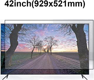 KUYUC Anti Blue Light 42 Inches TV Screen Protector, LED Eye Protection Screen Filter, Ultra-Clear Anti-Glare Screen Protector, LCD Anti-Scratch Filter Film (Color : A)