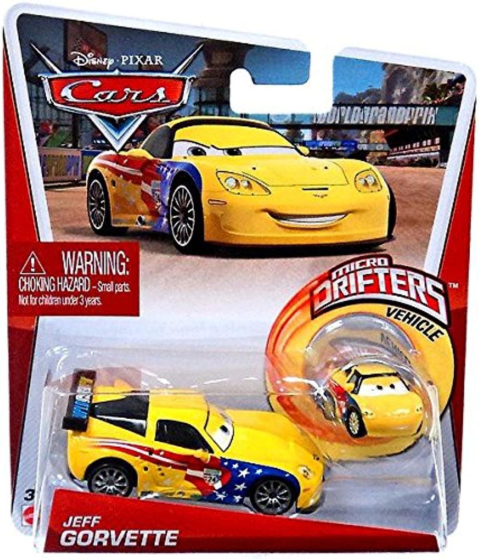Disney Pixar Cars Jeff Gorvette Diecast and Micro Drifters, 2-Pack