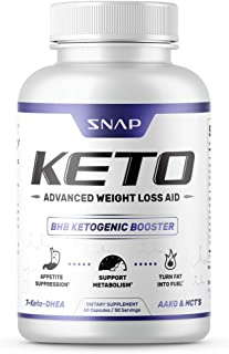 Keto Diet Pills - Weight Loss Pills by Snap Supplements - MCT Oil Diet Supplement - Ketogenic Ketosis 700mg Formula - L-Ar...