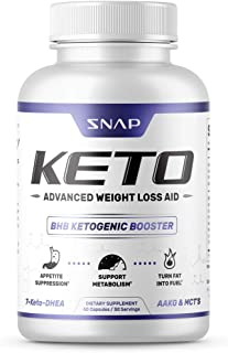 Keto Diet Pills - Weight Loss Pills by Snap Supplements - MCT Oil Diet Supplement - Ketogenic Ketosis 700mg Formula - L-Arginine - Suppresses Appetite, Supports Metabolism - 60 Capsules
