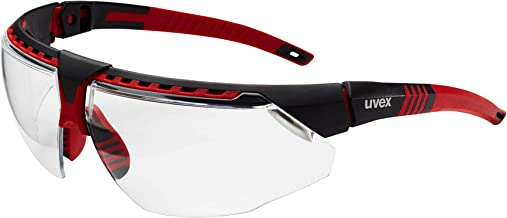 Uvex by Honeywell Avatar Safety Glasses, Red Frame with Clear Lens & HydroShield Anti-Fog Coating (S2860HS)