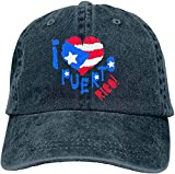 I Love Puerto Rico - Gorra de béisbol unisex para hombre y mujer, talla única ajustable