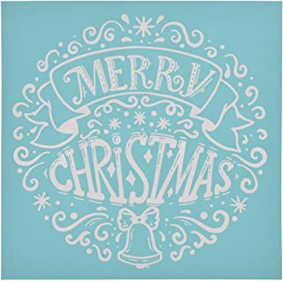 YeulionCraft Self-Adhesive Silk Screen Printing Stencil Christmas Theme Mesh Transfers for DIY T-Shirt Pillow Fabric Painting Decoration, Style-01