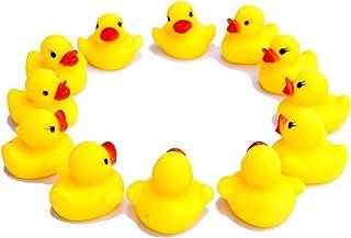 Homiki 12 Pcs Pato Amarillo de Goma Juguete Flotante con Sonidos Niños Pato de Baño