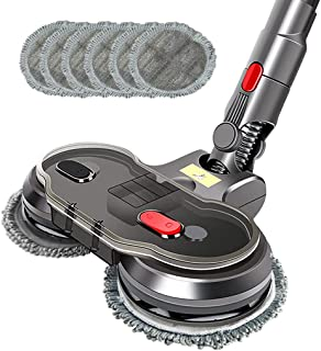 Electric Motorised Mop Head for Dyson V7 V8 V10 V11 Cordless Vacuum Cleaners Attachment Wet Dry Dual-use with 6 Mop Pads