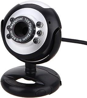 HD Webcam 6led Webcam Web Camera 0.3 Mp USB Webcams Web Camera with Microphone Web Cameras for Computer Laptop Notebook De...