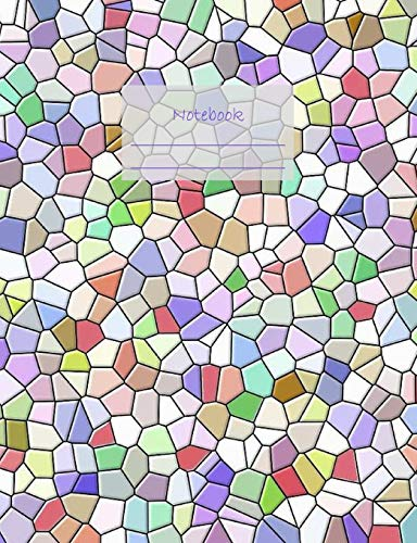 """Notebook: Composition Notebook. College ruled with soft matte cover. 120 Pages. Perfect for school notes, Ideal as a journal or a diary. 9.69"""" x 7.44"""". Great gift idea. (Colorful mosaic tiles cover)."""