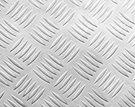 3003 Bright Aluminum 5-Bar Tread - .125 x 48 x 12