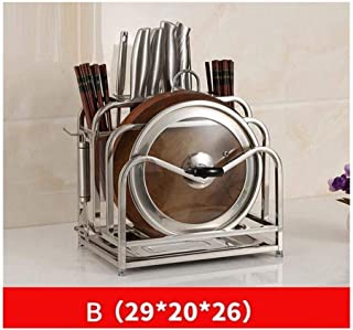 Exquisite Stainless Steel Knife Rack Vegetable Board Frame Anzenchboard Board Multi-Function Storage Stand Kitchen Knife Kitchen Utensils