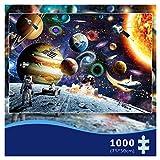 MOZOOSON Piezas Puzzle, Regalos Hombre , Regalos para Mujer, Puzzle 1000 Piezas, Juguetes niños, Navidad (Space Puzzle)