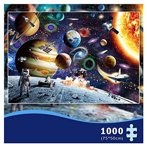 MOZOOSON Pezzi Puzzle Regalo Donna Uomo Puzzle 1000 Pezzi Puzzle Adulti Risolvi Il Puzzle (Pianeta Universo)