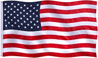 GZ622 American Flag 4x6 Ft - 210D Polyester US Flag with Stitched Stripe, Embroidered Stars - Durable & Fade Resistant US Banner for All Weather