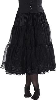Cosette Luxury Chiffon Adult Petticoat Slip, Lace Trim, Adjustable