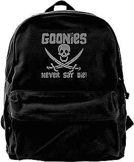 Mochila de lona Goonies Never Say Die Mochila de gimnasio, senderismo, portátil, bolsa de hombro para hombres y mujeres