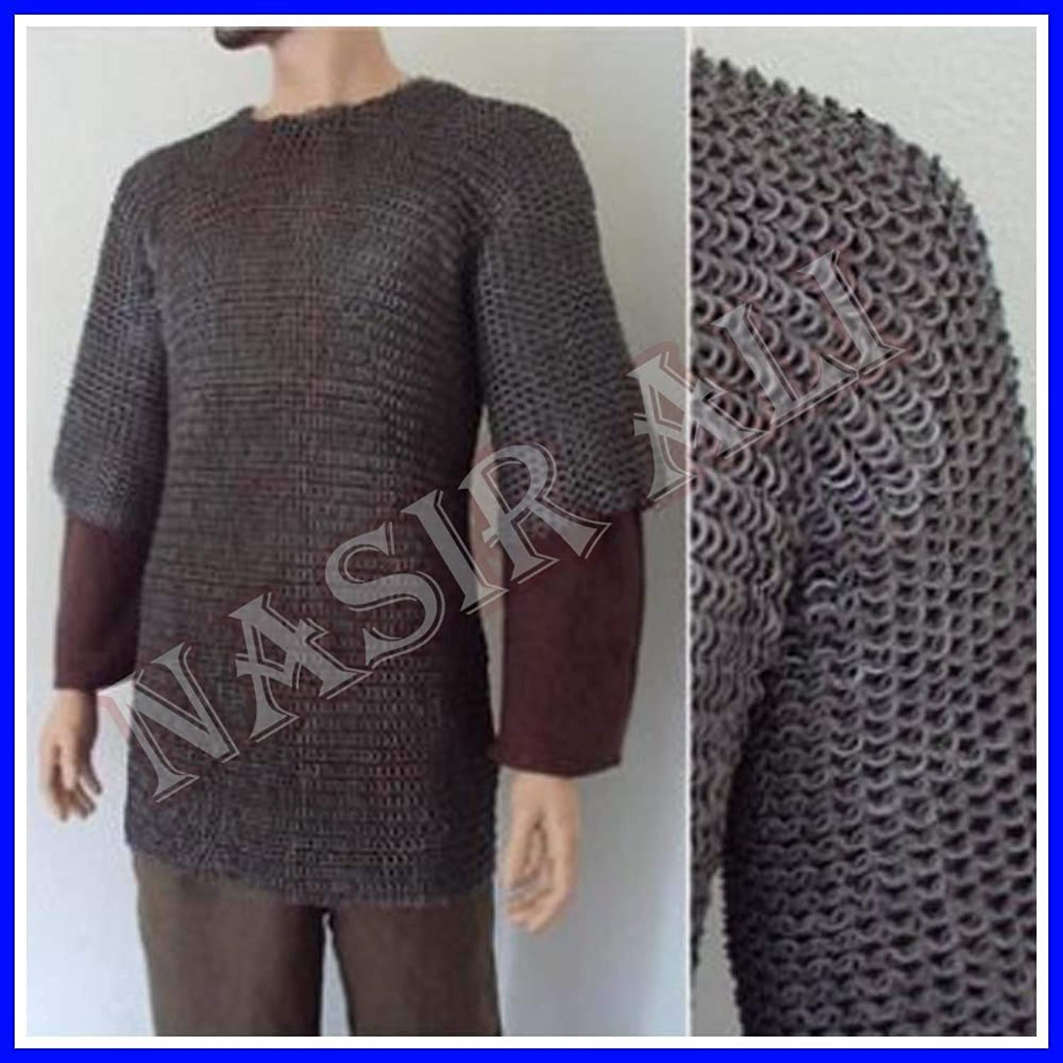 Large Size Flat Riveted Flat Washer Chainmail Shirt Chain Mail Haubergeon