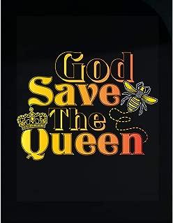 Custom Chimp God Save The Queen Cute Beekeeper Honey Bee Apairist Art - Transparent Sticker