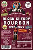 Black Cherry Bourbon Beef Jerky-GLUTEN FREE - No Preservatives, Nitrites, or MSG