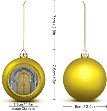 GADZILLE Christmas Balls, Moroccans Large Christmas Ornament Balls Christmas Decorations Xmas Balls Tree Baubles for Holiday