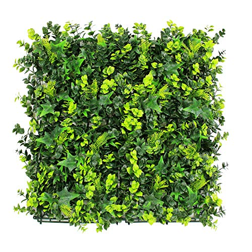 ULAND Artificial Hedges Panels, Boxwood Greenery Ivy Privacy Fence Screening, Home Garden Outdoor Wall Decoration, Pack of 6pcs 20'x20'