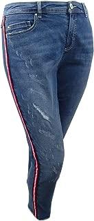 INC Womens Plus Medium Wash Slim Tech Fit Ankle Jeans