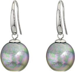 12 mm Coin Pearl Drop Earrings