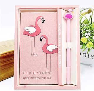 Flamingo Notebook Journal Gel Pen Set Trendy Flamingo Diary Notebook Pink Flamingo Gifts Set for School Office Supplies Girls Kids Birthday Gift