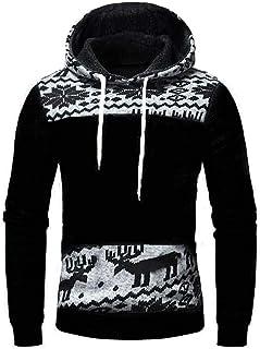 SANFASHION Mens Hoodie Long Sleeve Sweatshirt Sports Pullover Autumn Winter Spring Lightweight Casual Slim Fit Classic Swe...