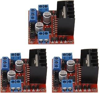 HOMYL Dual H Bridge DC Stepper Motor Drive Controller Board Module L298N Motor Driver (3 Pack)