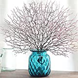 Rokoo - Ramo di corallo finto, artificiale, ramo d'albero per piante essiccate, ottimo per pianta bianca, bella decorazione nuziale o domestica