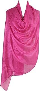 PB-SOAR Damen Einfarbiger Glänzend Schal Stola Halstuch für Abendkleider 185 x 100cm, 18 Farben auswählbar