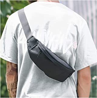 Fanny Packs for Men&Women Adjustable Waterproof Waist Bag Pack with Headphone Jack for Traveling Hiking Fitness Shopping Outdoor Sports, Nylon Workout Runner Belt