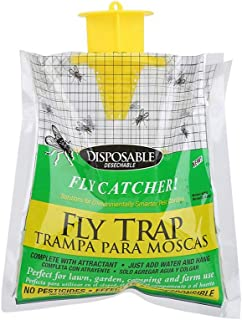 Bundle of 2, Goolsky Disposable Fly Trap Catcher Practical Effective Pest Control Insect Trap Non-toxic Hanging Style Catc...