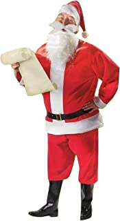 7 Piece Santa Suit Set Christmas Santa Claus Costume Adult One Size Fit Most