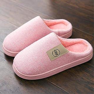 LJLLINGA Moda Mujer Zapatillas Invierno cálido Diapositivas Hombres Damas niños niñas casa Zapatos tacón Plano hogar Inter...