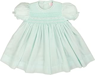 Petit Ami Baby Girls' Fully Smocked Dress with Lace