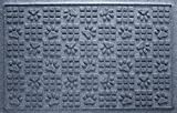 Bungalow Flooring Waterhog Door Mat, 2' x 3' Made in USA, Durable and Decorative Floor Covering, Skid Resistant, Indoor/Outdoor, Water-Trapping, Dog Paw Design, Bluestone